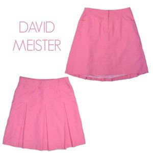 David Meister Pink A-line Summer Skirt Pockets